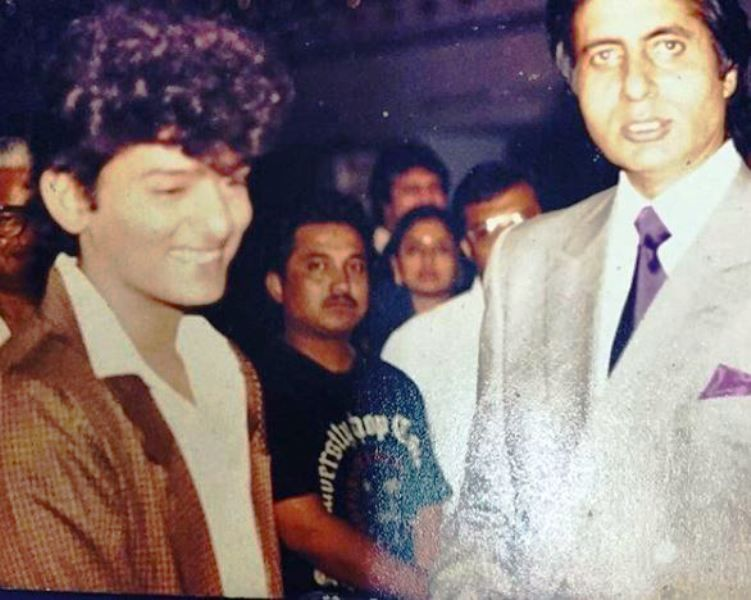 An Old Picture of Wajid Khan with Amitabh Bachchan