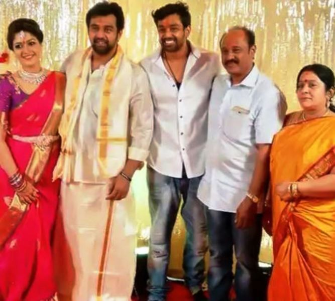 Chiranjeevi Sarja With His Parents, Brother, and Wife