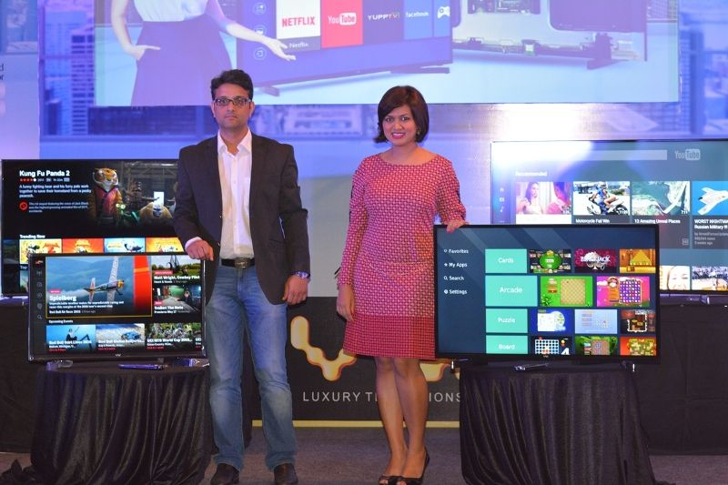 Devita Saraf with Flipcart founder and CEO Amit Bansal