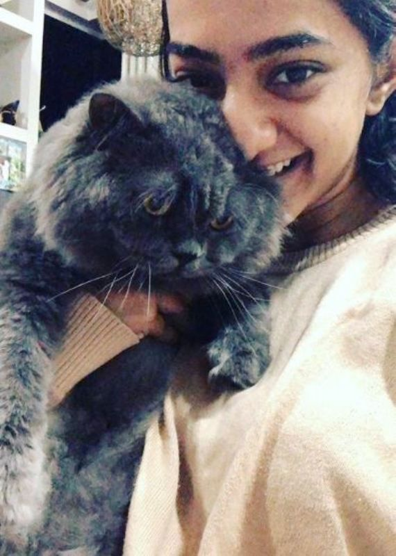Gargi Sawant With Her Pet Cat