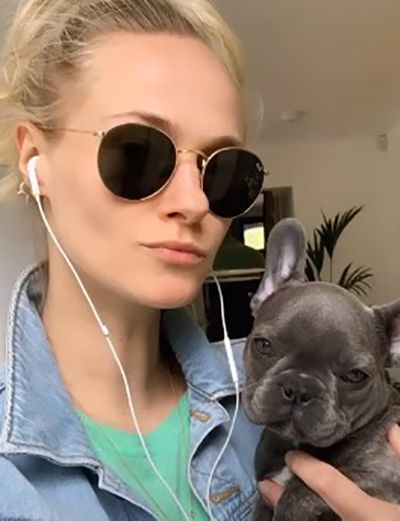 Jessica Madsen with her Pet