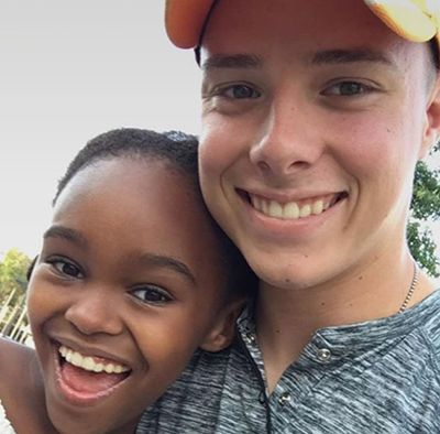 Lidya Jewett with her Brother, Connor