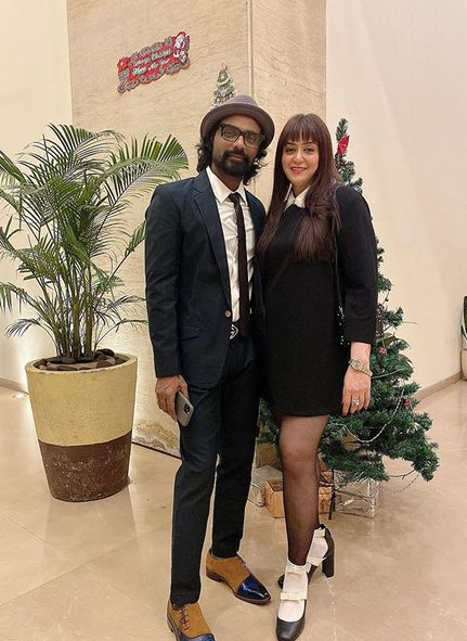 Lizelle D'Souza with her husband, Remo D'Souza