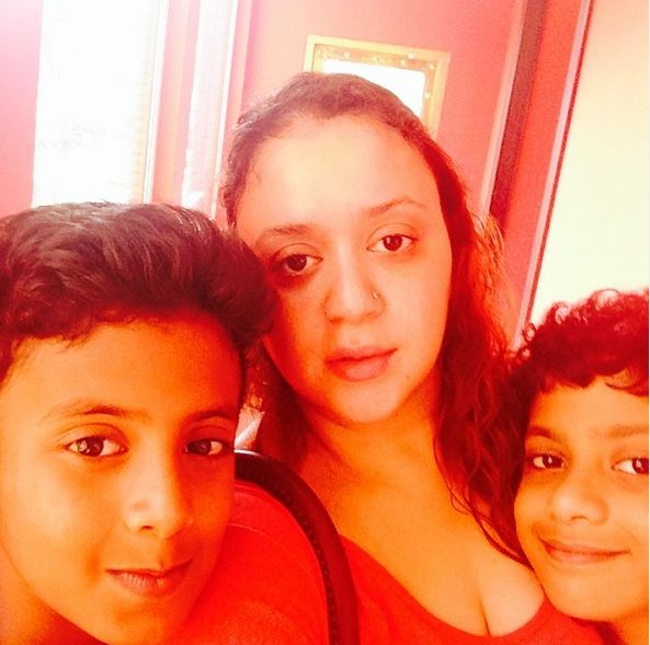 Lizelle D'Souza with her sons