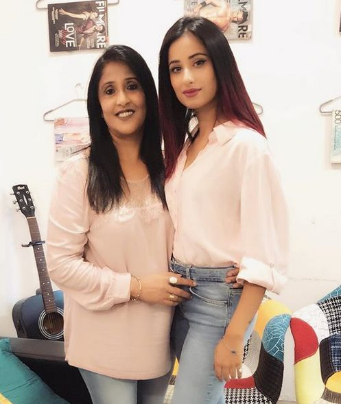 Maera Mishra with her mother