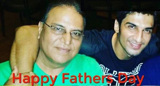 Manish Raisinghan with his father