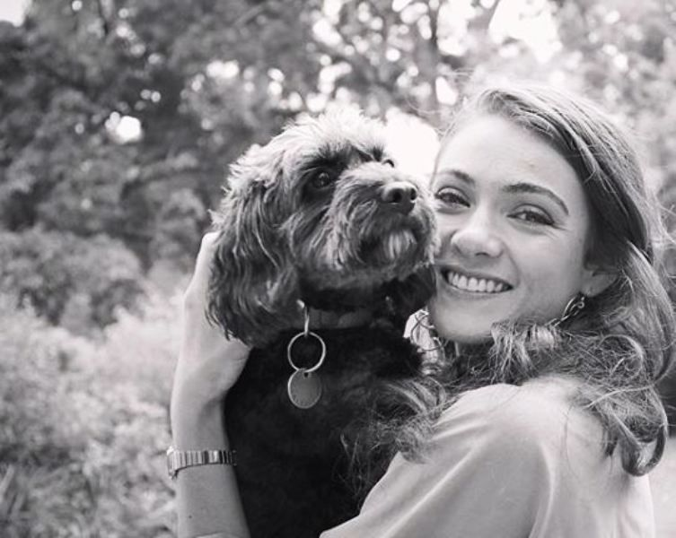 Megan Mitchell With Her Dog