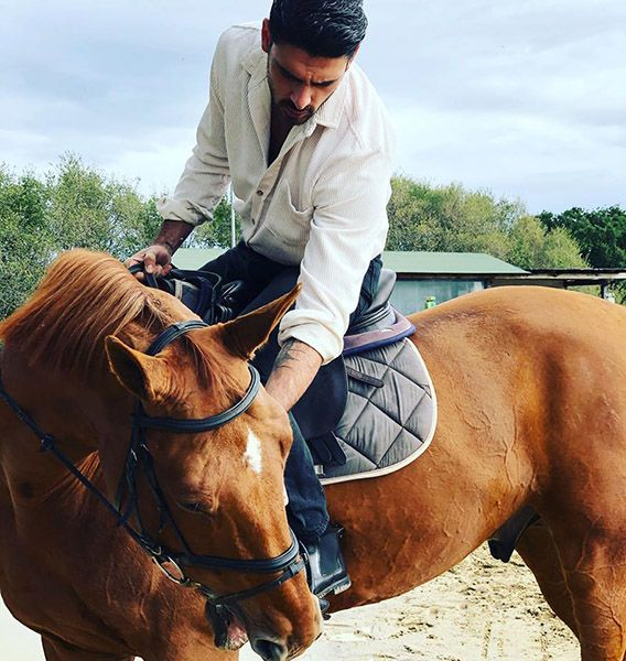 Michele Morrone with his Horse