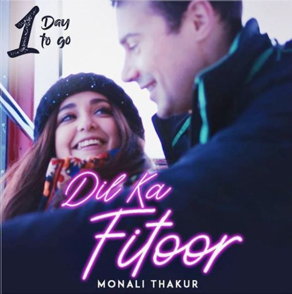 Monali Thakur and Maik Richter in a Music Video