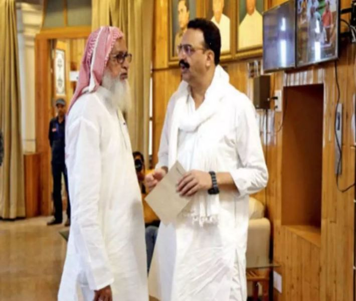 Mukhtar Ansari With His Brother Sibakatullah Ansari
