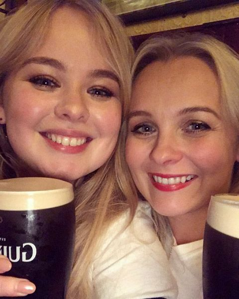 Nicola Coughlan with her Sister