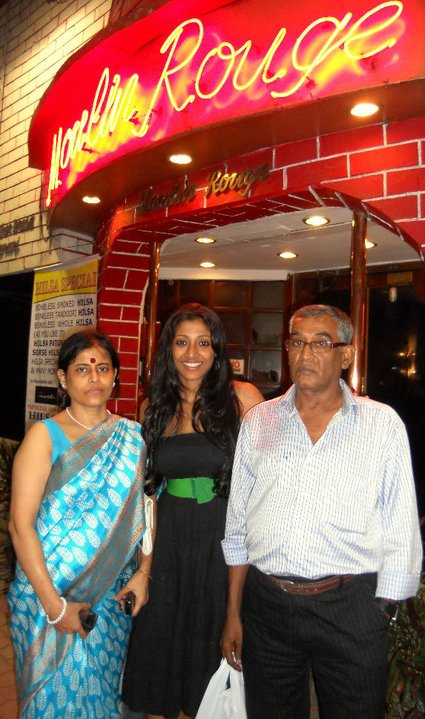 Paoli Dam with her parents