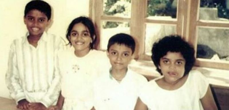 Pooja Shetty With Her Brothers and Sister
