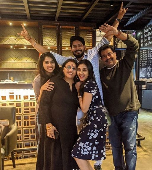 Ragini Chandran with her family