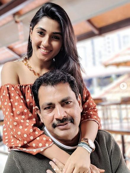 Ragini Chandran with her father