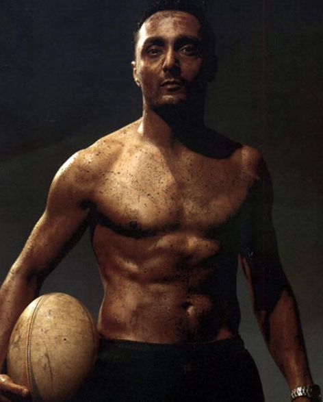 Rahul Bose as a Rugby Player