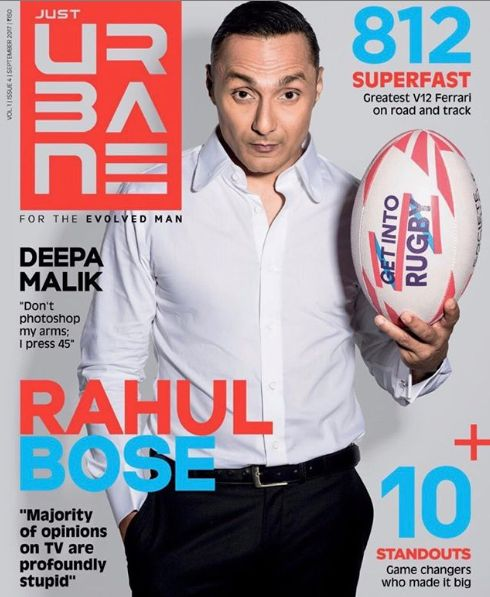 Rahul Bose on the cover of Just Urbane magazine