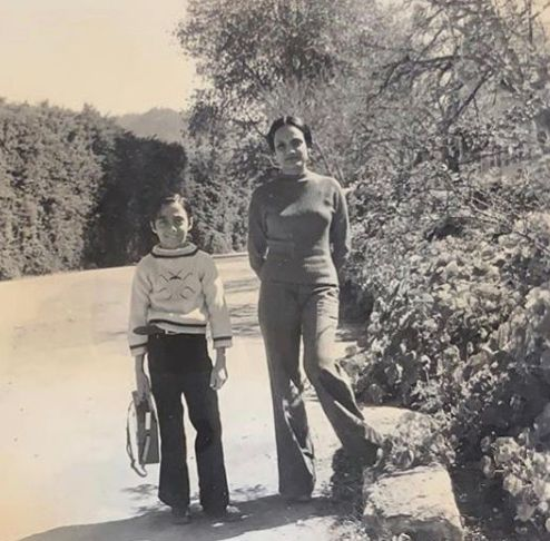 Rahul Bose with his mother