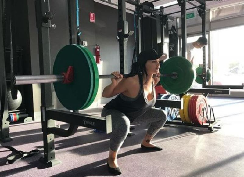 Renee Gracie Doing Workout