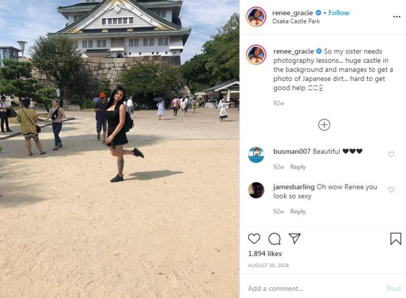 Renee Gracie's Instagram Post About Her Travel Experience in Japan