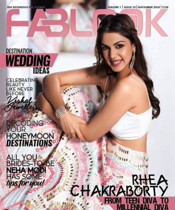 Rhea Chakraborty Featured on a Magazine Cover