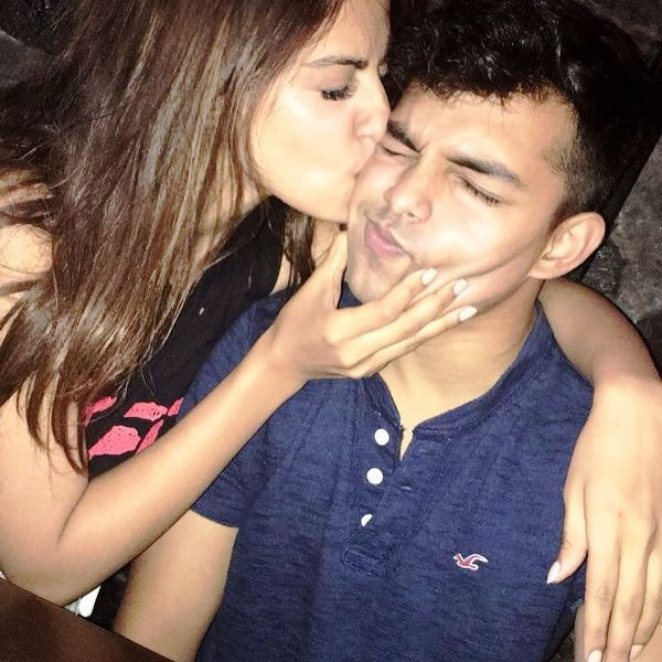 Rhea Chakraborty With Her Brother