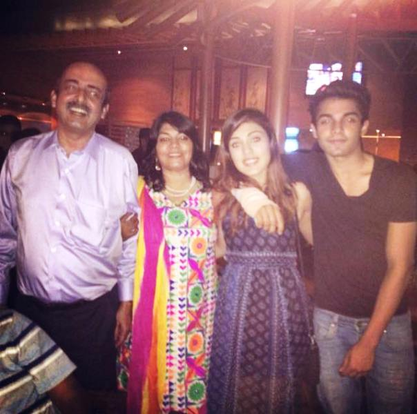 Rhea Chakraborty With Her Family