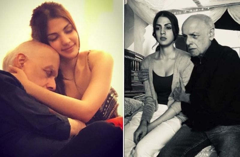 Rhea Chakraborty With Mahesh Bhatt