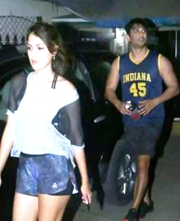 Rhea Chakraborty and Sushant Singh's Last Picture Together