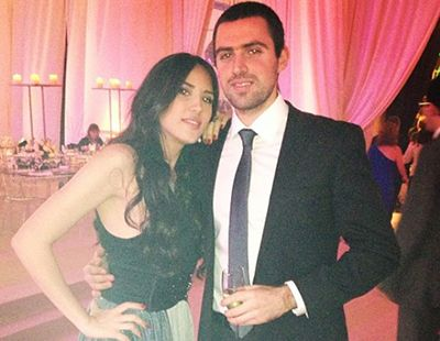 Rouba Saadeh with her Brother