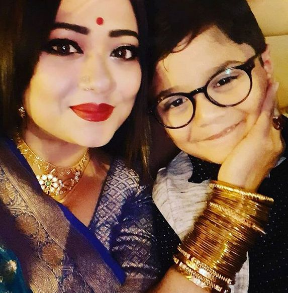 Rupanjana Mitra with her son