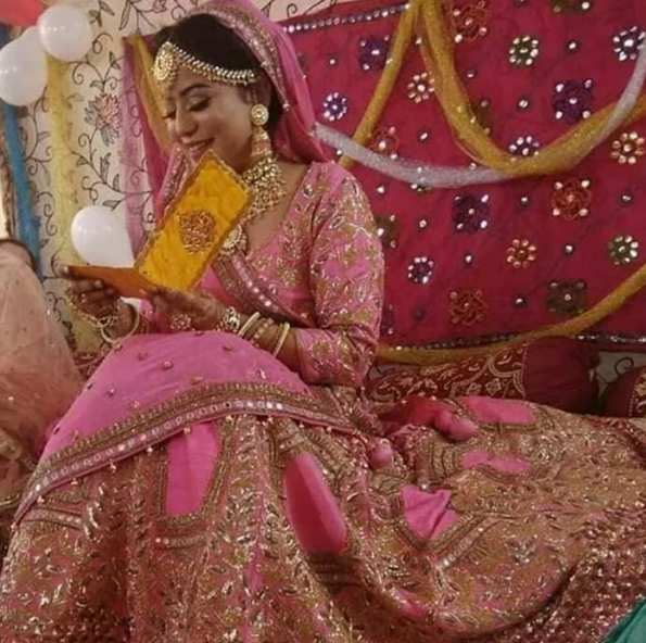Safoora Zargar at her wedding