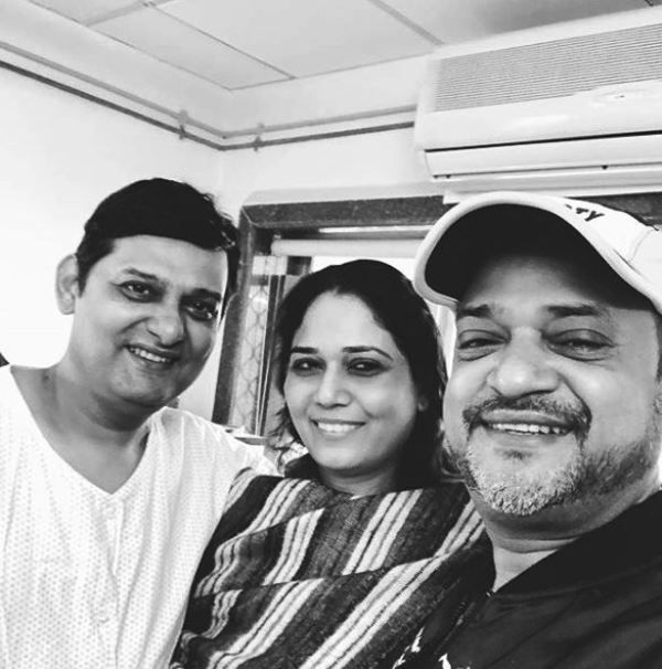 Sajid Khan With His Wife and Wajid Khan