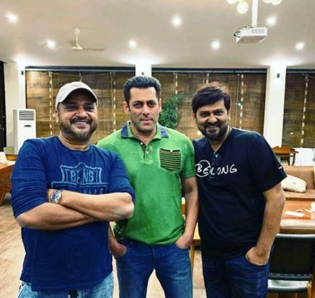 Sajid Khan and Wajid Khan With Salman Khan