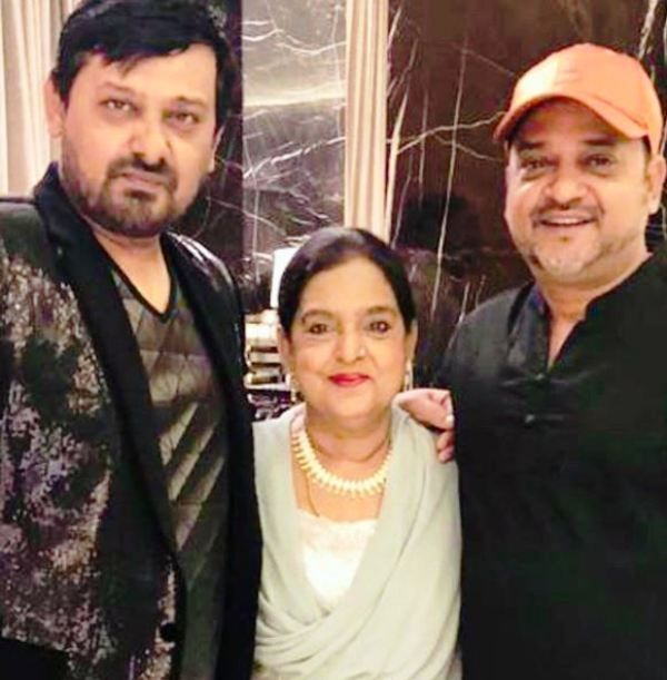 Sajid Khan and Wajid Khan With Their Mother