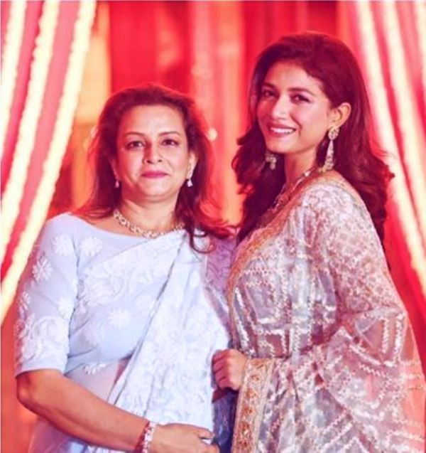 Sauraseni Maitra With Her Mother