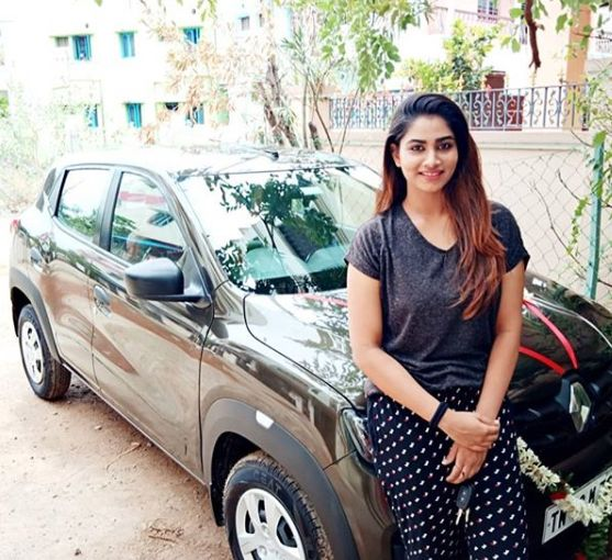Shivani Narayanan with her car