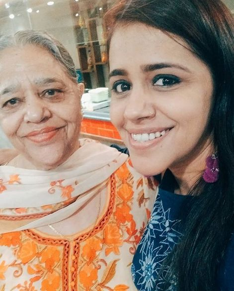 Taranjit Kaur with her mother
