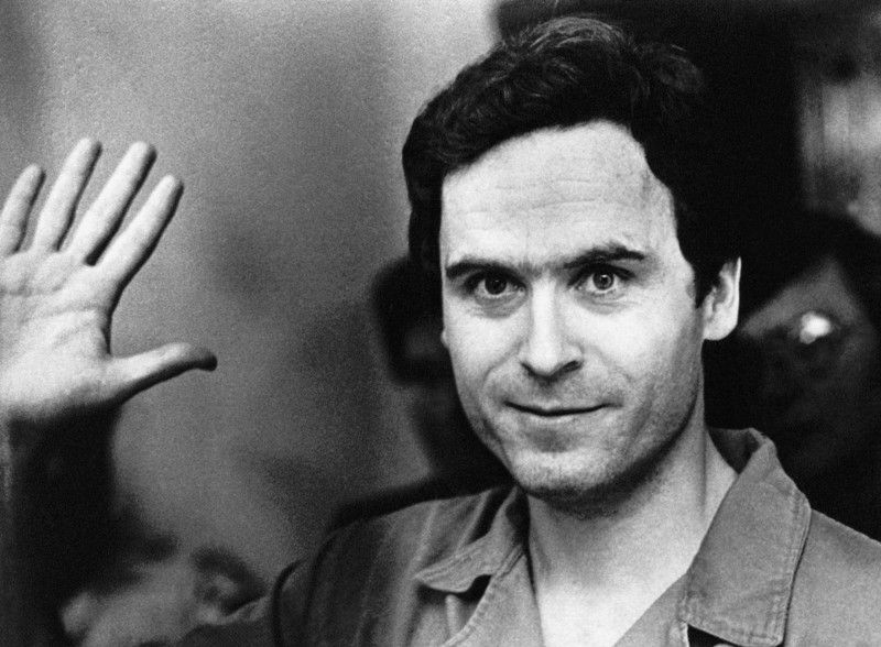 Ted Bundy Waving His Hand