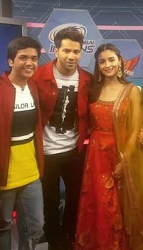 Vishesh Bansal with Varun Dhawan and Alia Bhatt