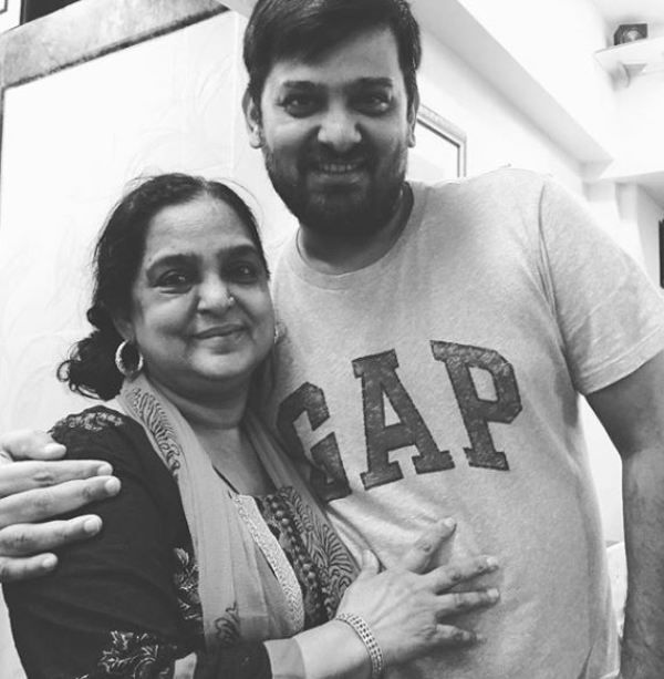 Wajid Khan With His Mother