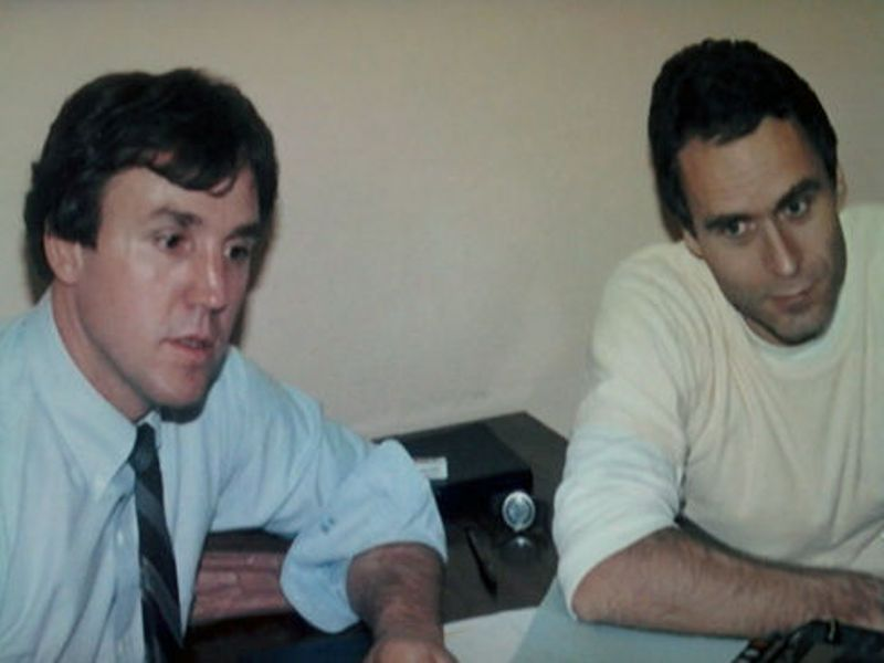 William Hagmaier (left ) and Ted Bundy