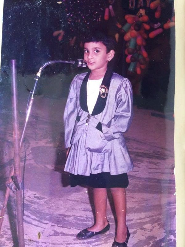 A Childhood Picture of Chandini Tamilarasan