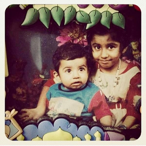 A Childhood Picture of Roshan Mathew and His Sister