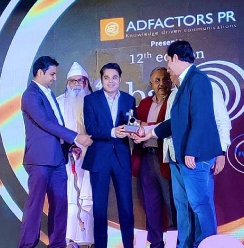 Amish Devgan Receiving an Award