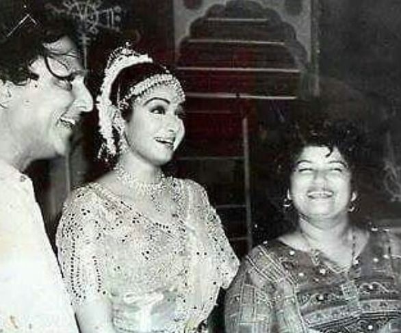 An old picture of Saroj Khan