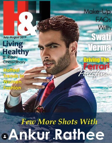 Ankur Rathee on the cover of H&H magazine