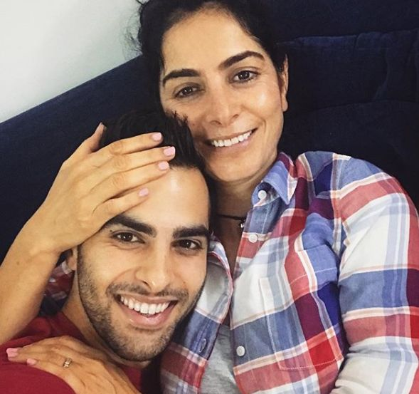 Ankur Rathee with his mother