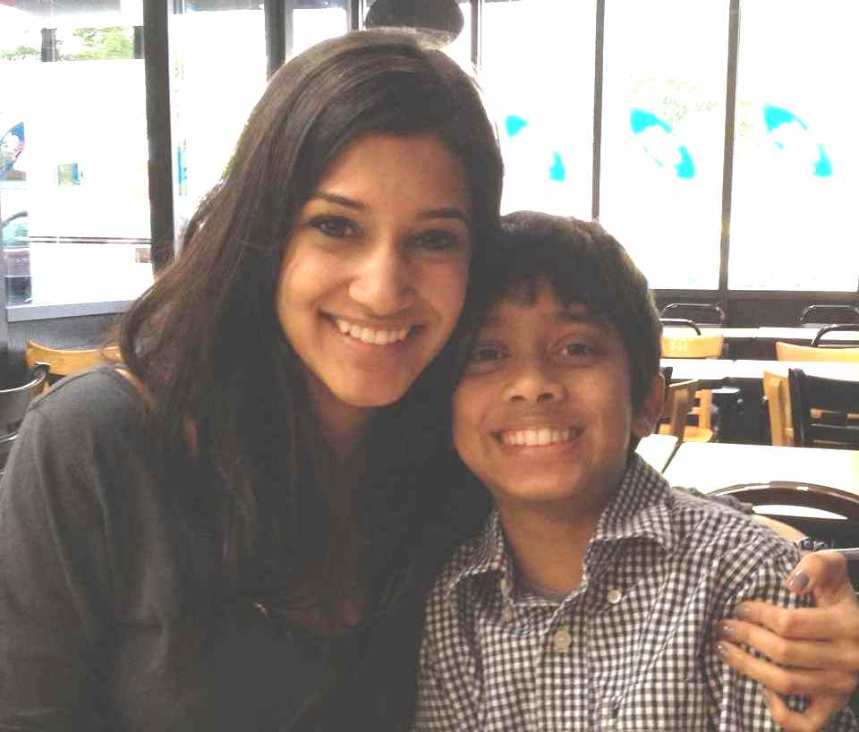 Anuja Joshi with her brother