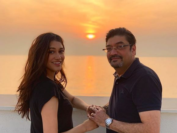 Anuja Joshi with her father
